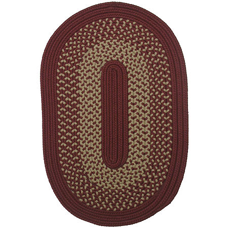 Colonial Mills Houston Reversible Braided Indoor/Outdoor Oval Rug, One Size , Red
