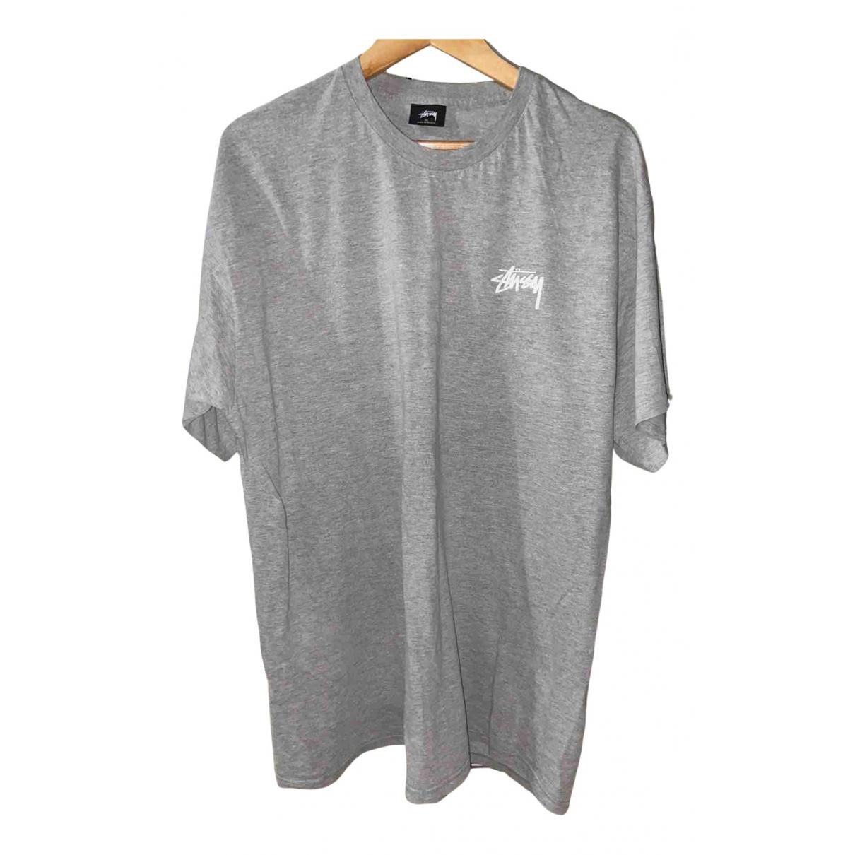 Stussy - Tee shirts   pour homme en coton - gris