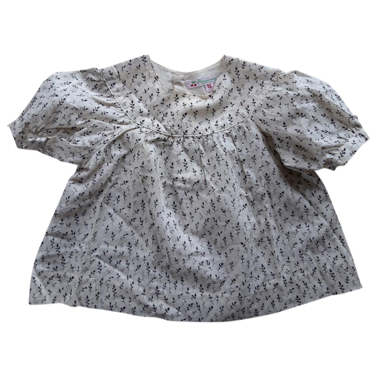 Bonpoint - Top   pour enfant en coton - ecru