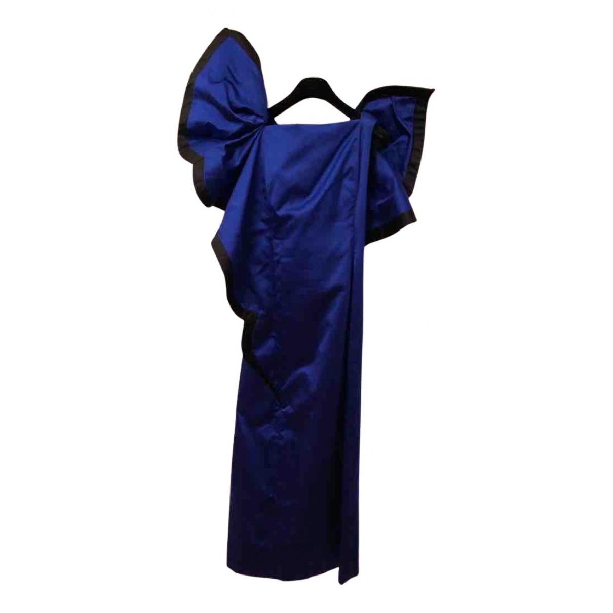 Roberto Capucci \N Kleid in  Blau Seide