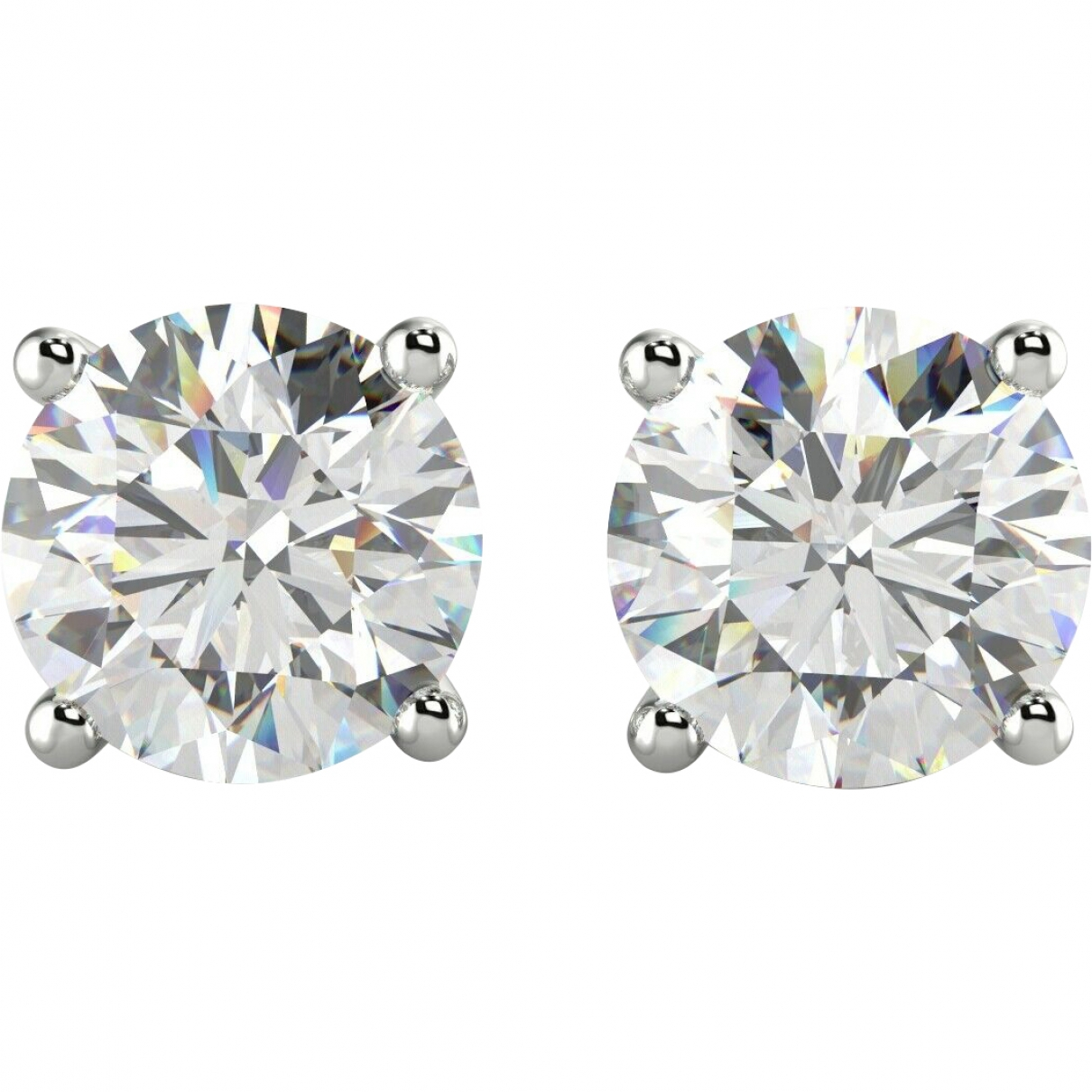 Non Signé / Unsigned Puces en diamants Silver White gold Earrings for Women \N