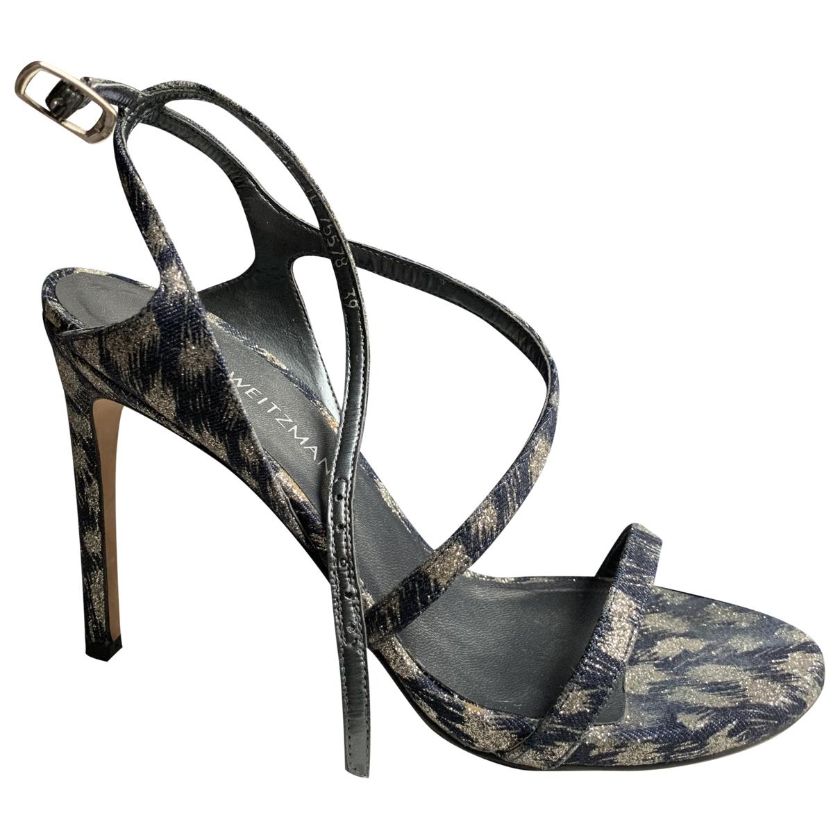 Stuart Weitzman \N Blue Glitter Sandals for Women 39 EU