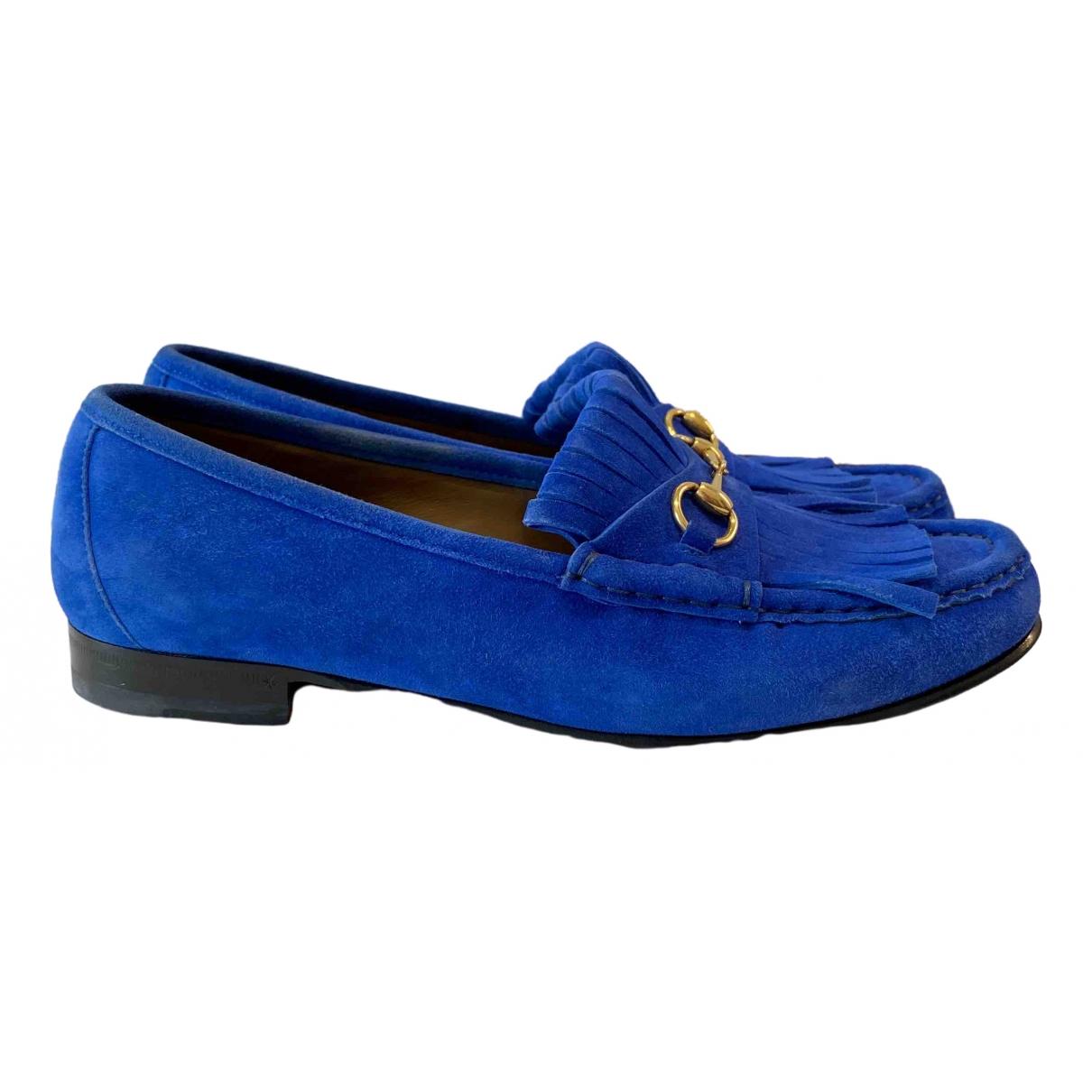 Gucci \N Blue Suede Flats for Women 39.5 EU