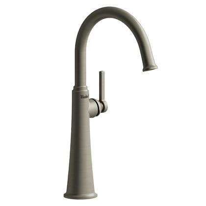 Momenti MMRDL01LBN-10 Single Hole Lavatory Faucet with L Lever Handle 1.0 GPM  in Brushed