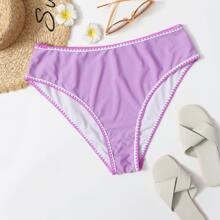 Bragas bikini de cintura alta con puntada