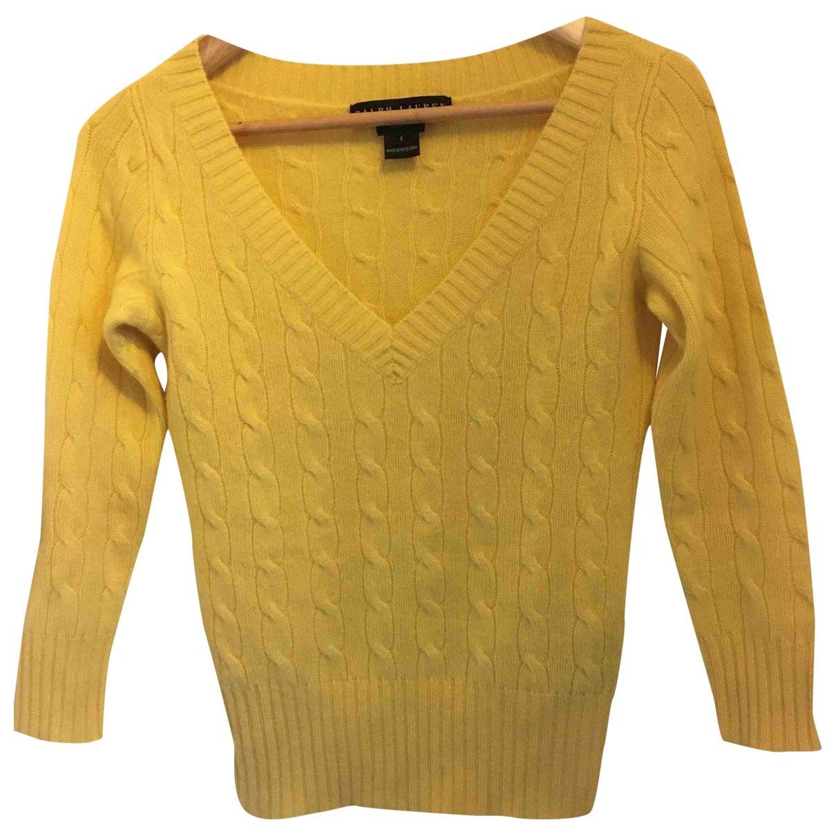 Ralph Lauren \N Pullover in  Gelb Wolle