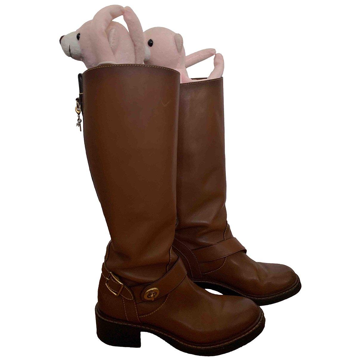 Coach \N Brown Leather Boots for Women 6 US