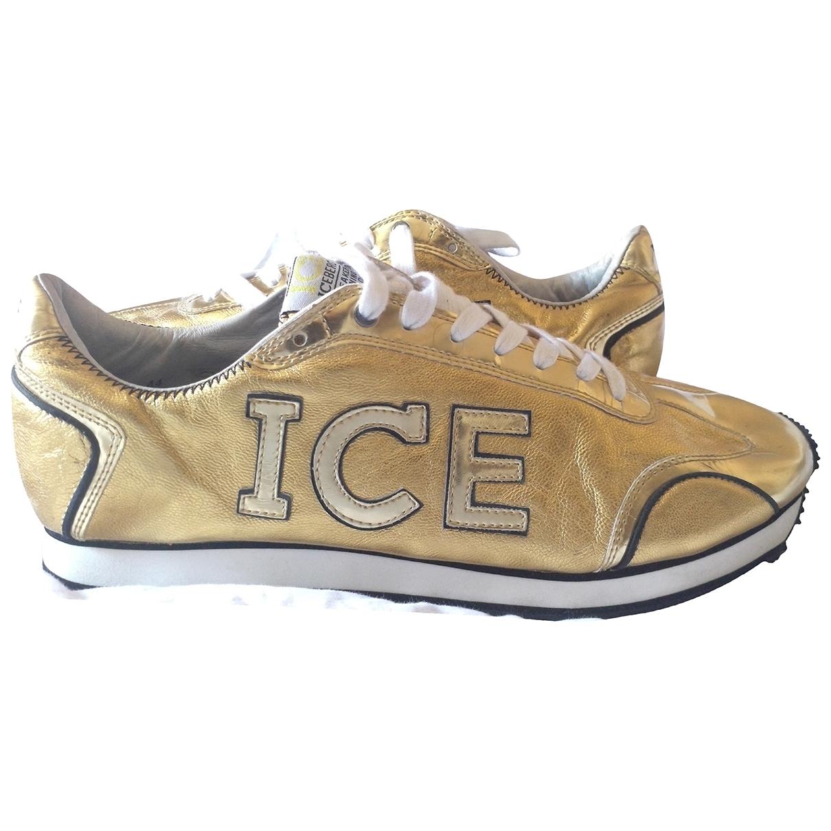 Iceberg \N Sneakers in  Gelb Leder