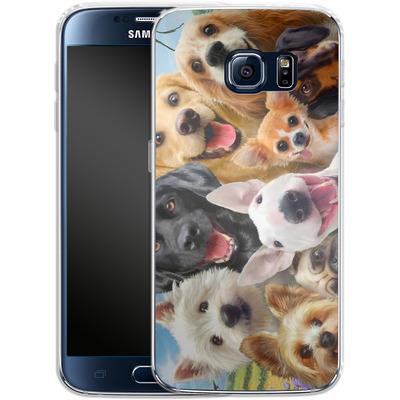 Samsung Galaxy S6 Silikon Handyhuelle - Dogs Selfie von Howard Robinson