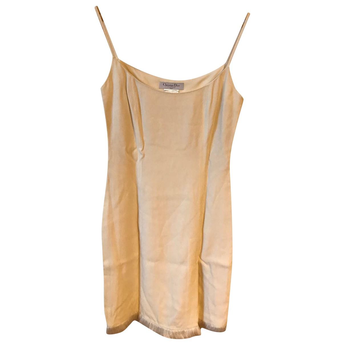 Dior - Robe   pour femme - ecru