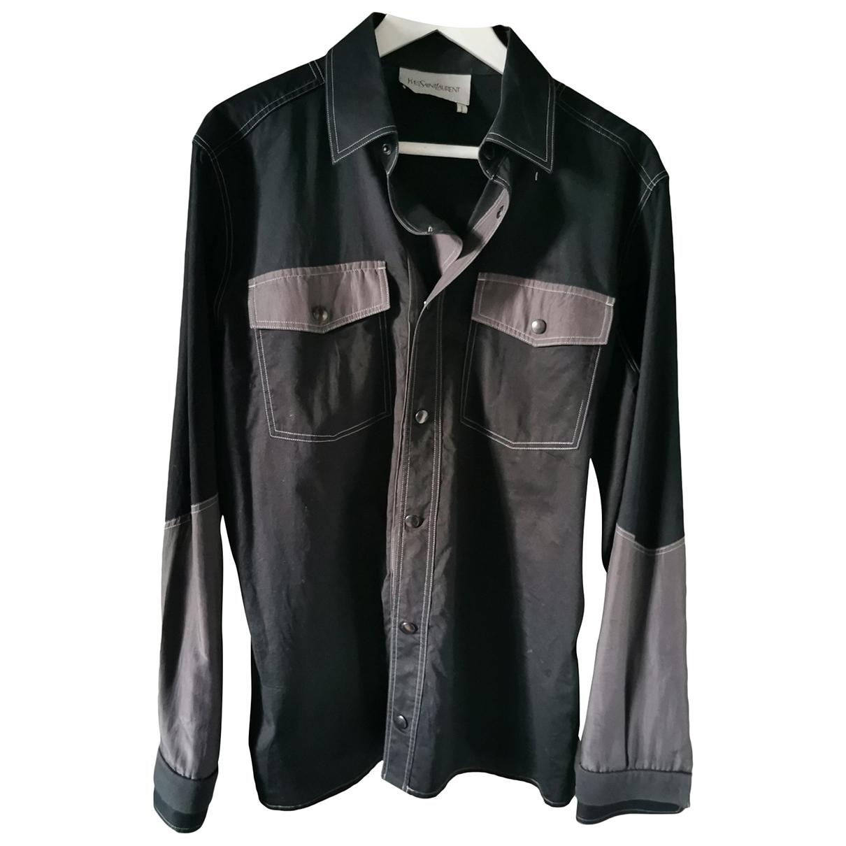 Yves Saint Laurent \N Hemden in  Schwarz Baumwolle