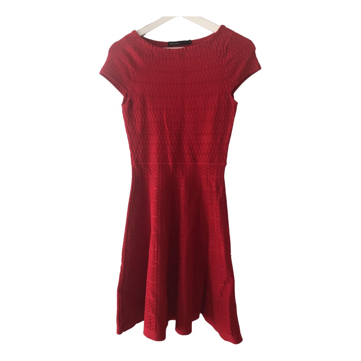 Karen Millen \N Kleid in  Rot Viskose