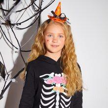 Toddler Girls Halloween Hat Decor Hair Hoop