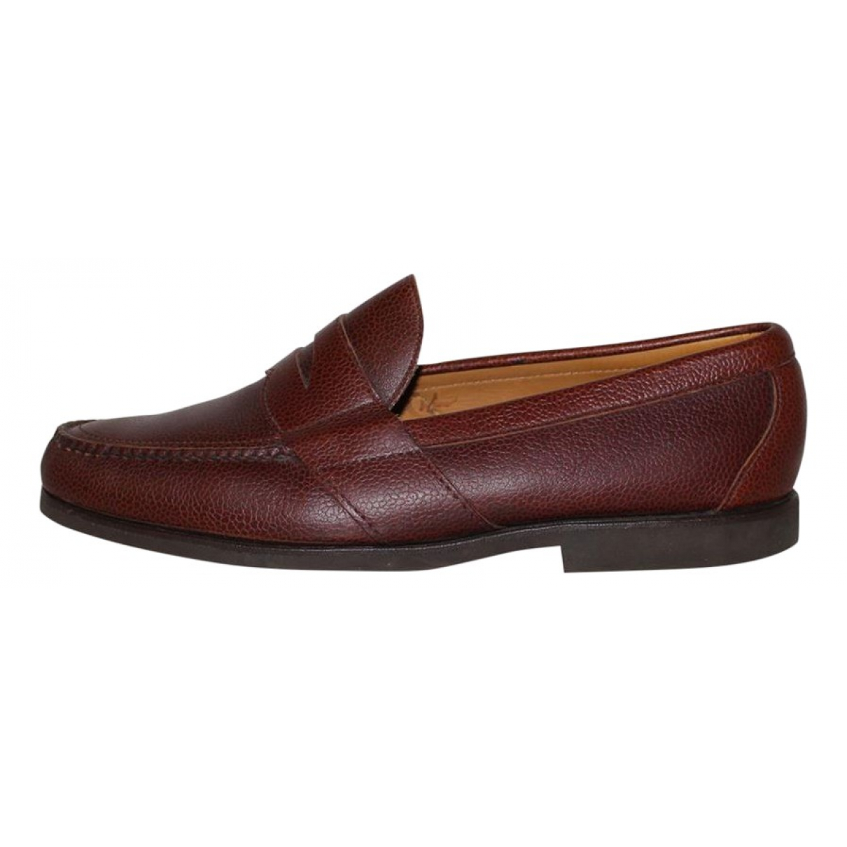 Cole Haan N Brown Leather Flats for Men 45 EU