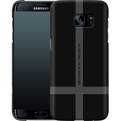 Samsung Galaxy S7 Edge Smartphone Huelle - TECHNO IS MY RELIGION  von Berlin Techno Collective