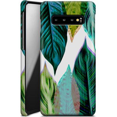 Samsung Galaxy S10 Plus Smartphone Huelle - Green Leaves von Mareike Bohmer