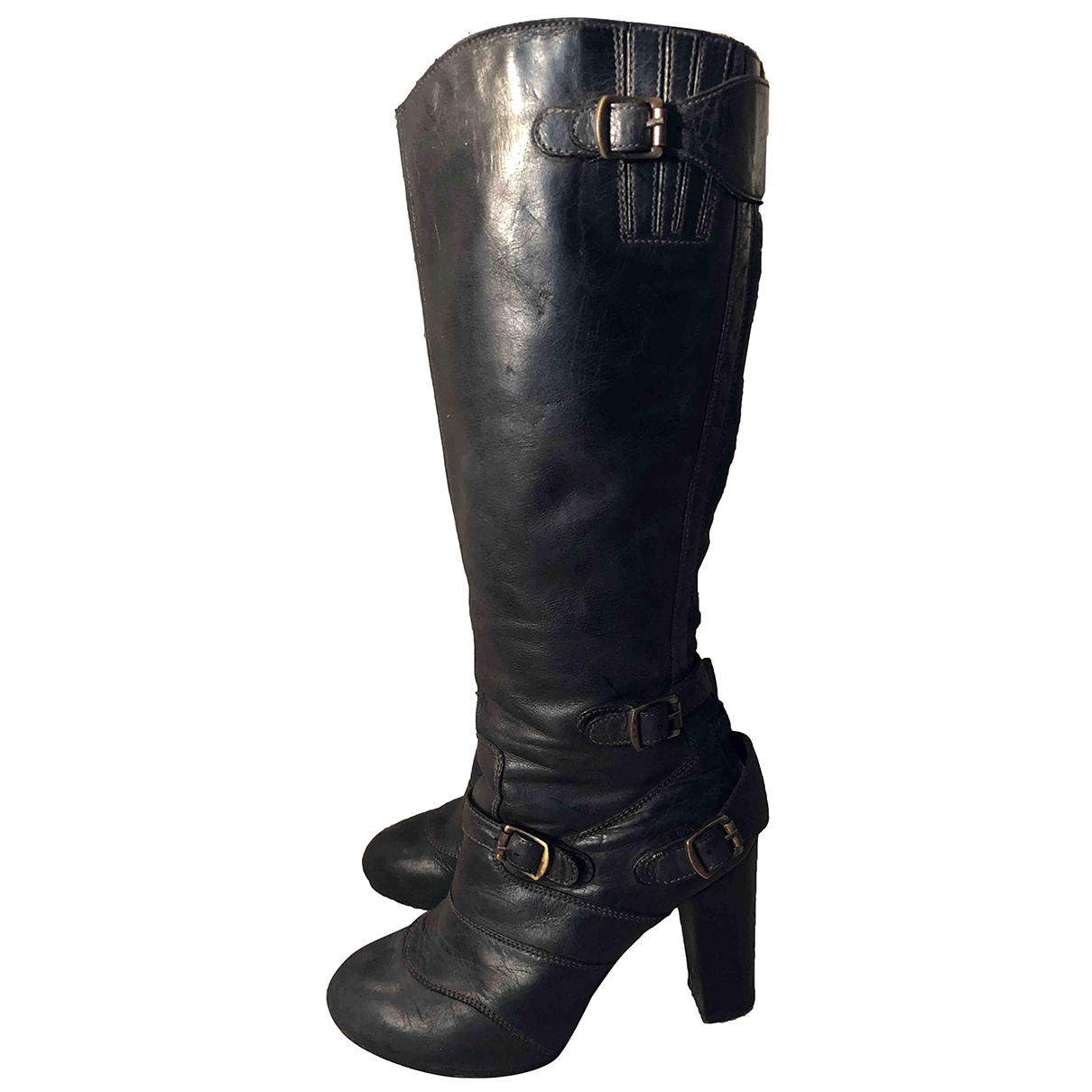 Belstaff - Bottes   pour femme en cuir - noir