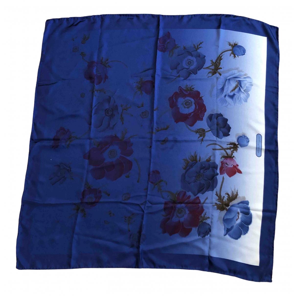 Salvatore Ferragamo N Blue Silk scarf for Women N
