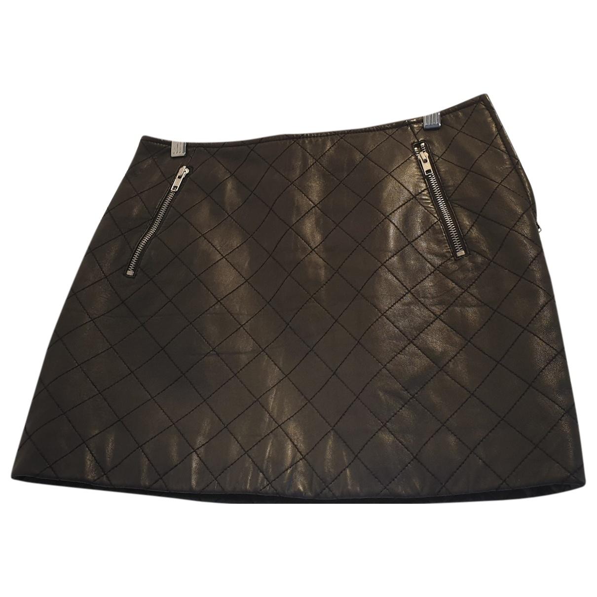 Claudie Pierlot - Jupe   pour femme en cuir - noir