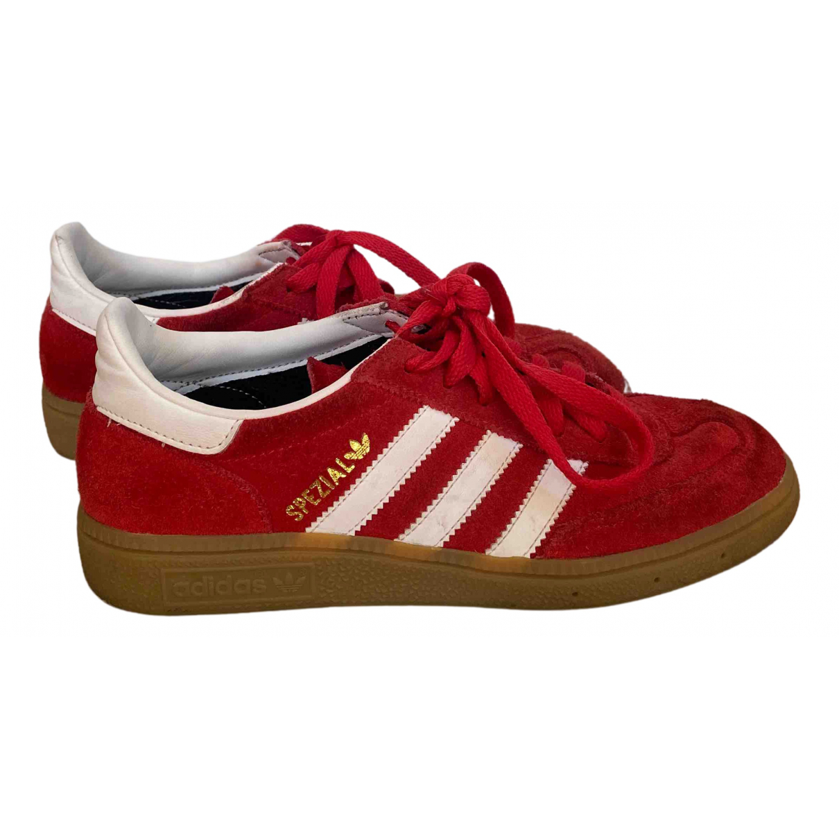 Adidas Gazelle Sneakers in  Rot Veloursleder