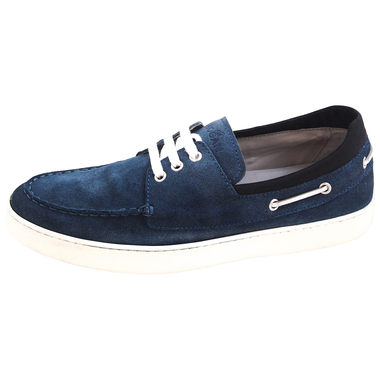Hogan \N Sneakers in  Blau Veloursleder