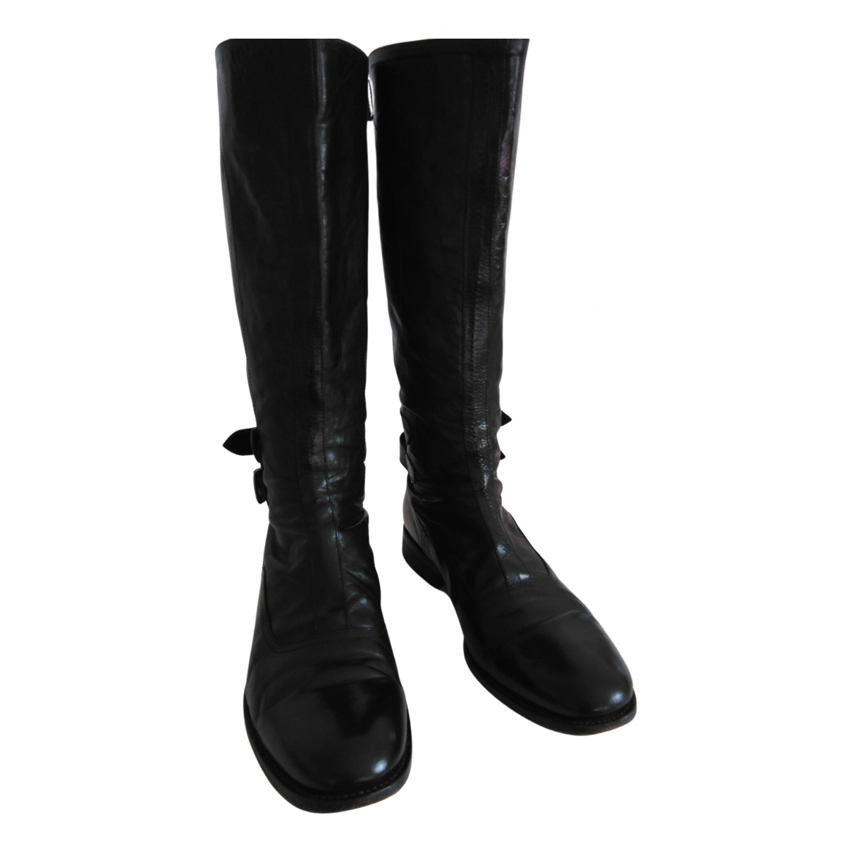 Paul Smith N Black Leather Boots for Women 40 EU