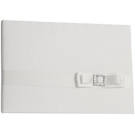 Ivy Lane Design Crystal Elegance Guest Book, One Size , White