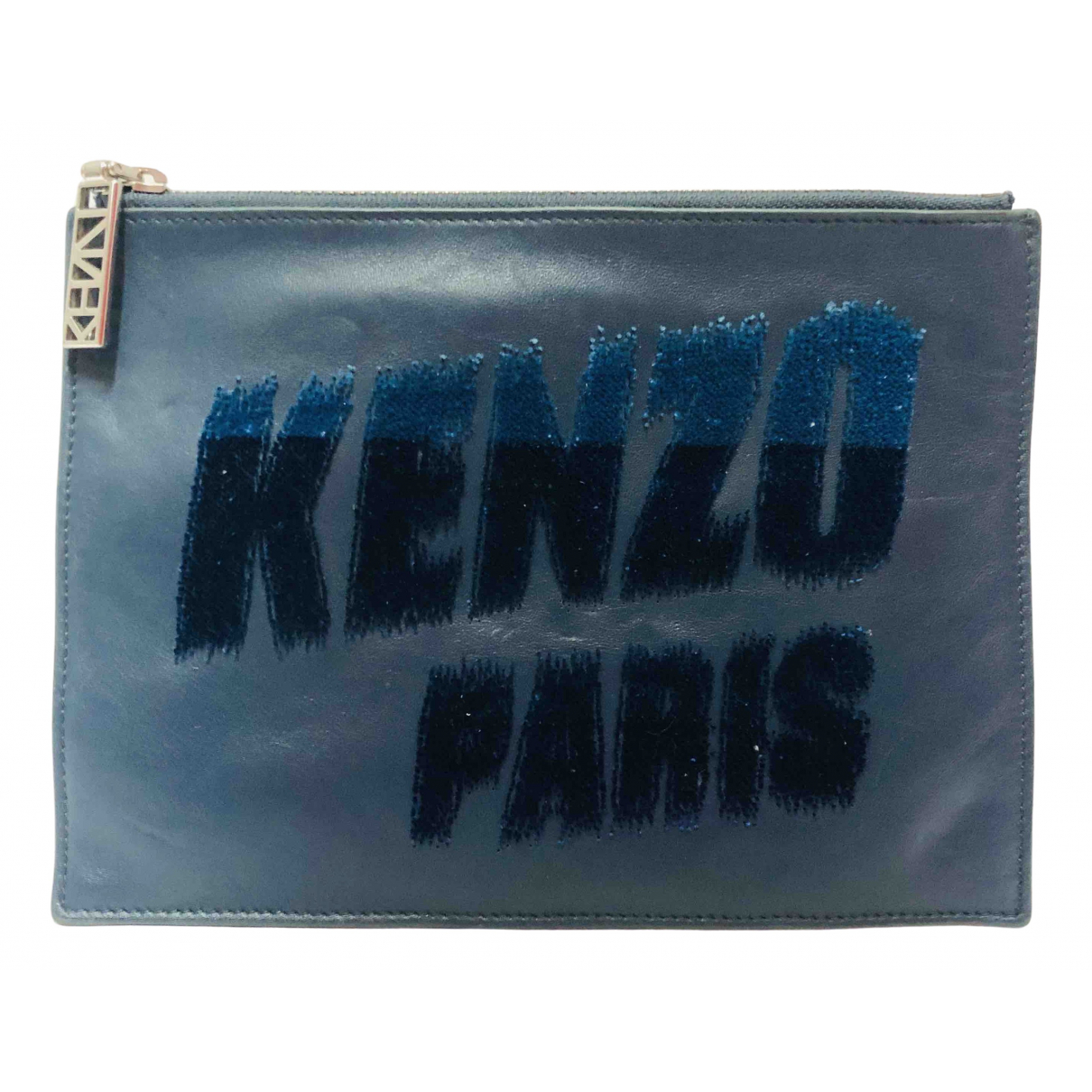 Kenzo \N Navy Leather Small bag, wallet & cases for Men \N