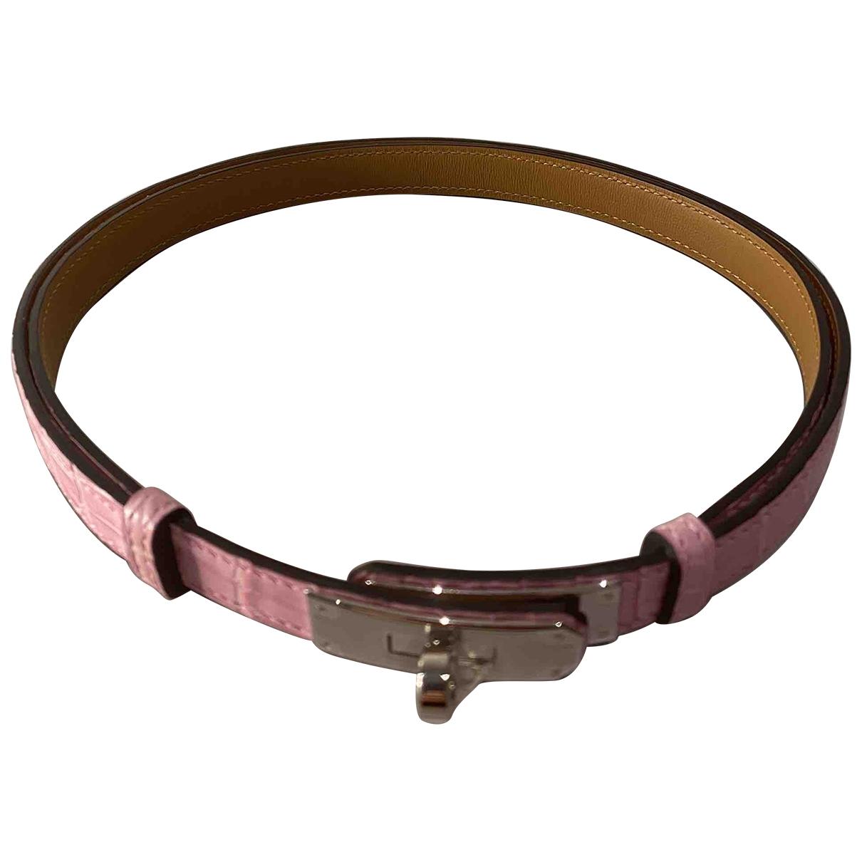 Cinturon Kelly de Cocodrilo Hermes
