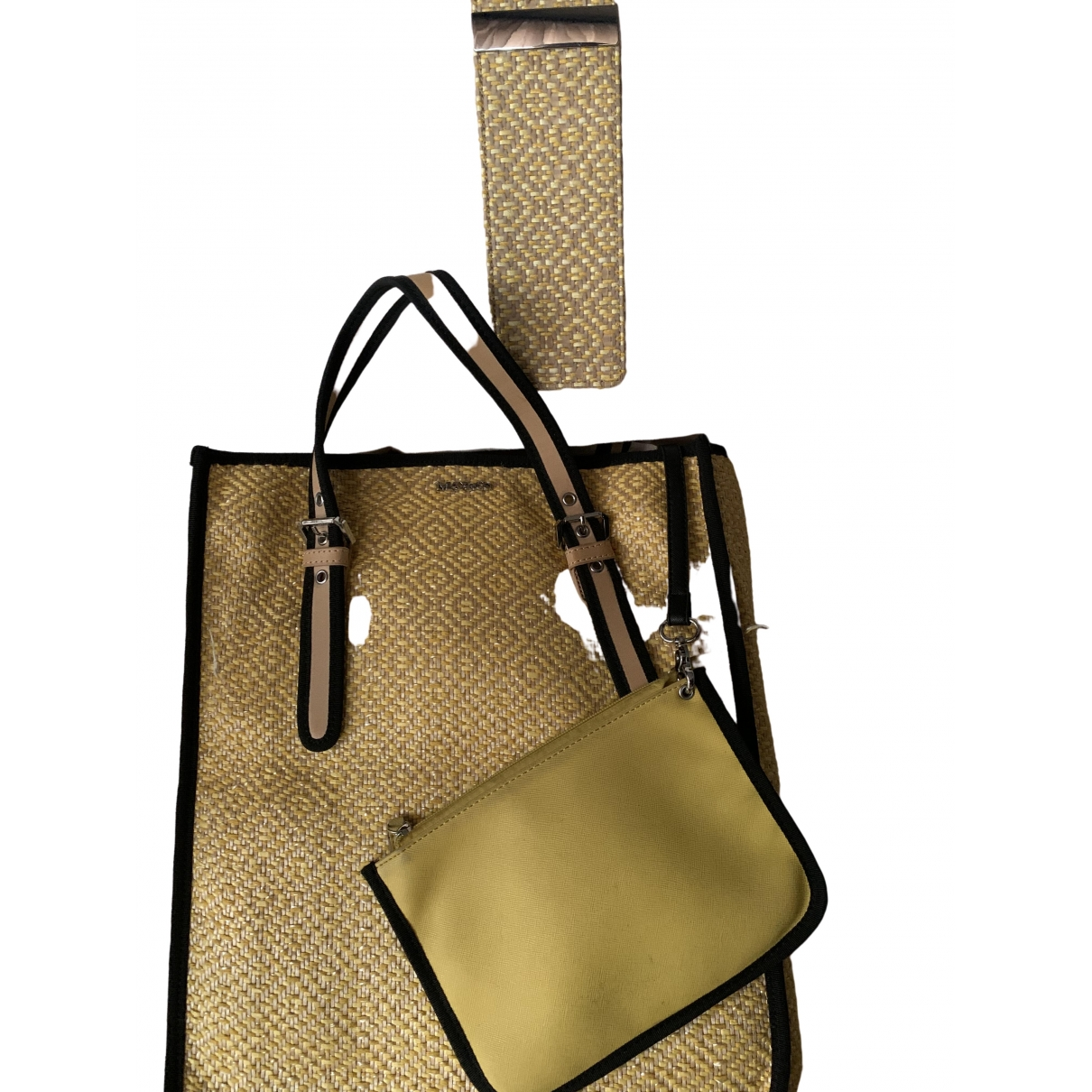 Max & Co \N Yellow Wicker handbag for Women \N