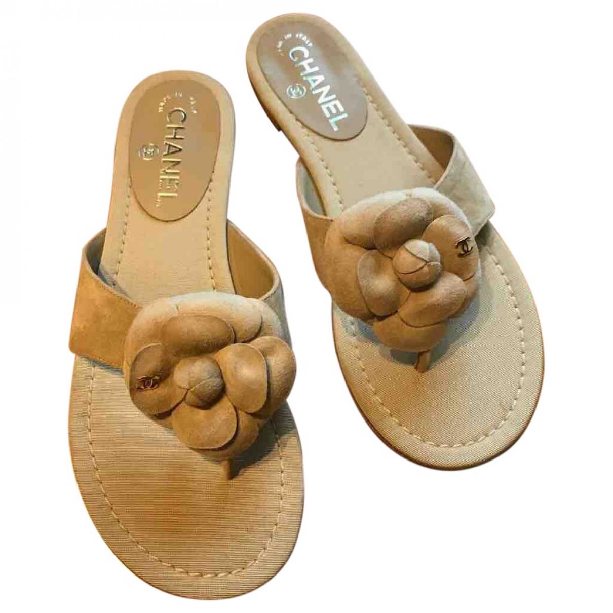 Chanel \N Beige Suede Sandals for Women 38 EU