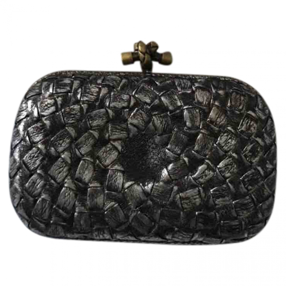 Bottega Veneta Pochette Knot Clutch in  Metallic Leder