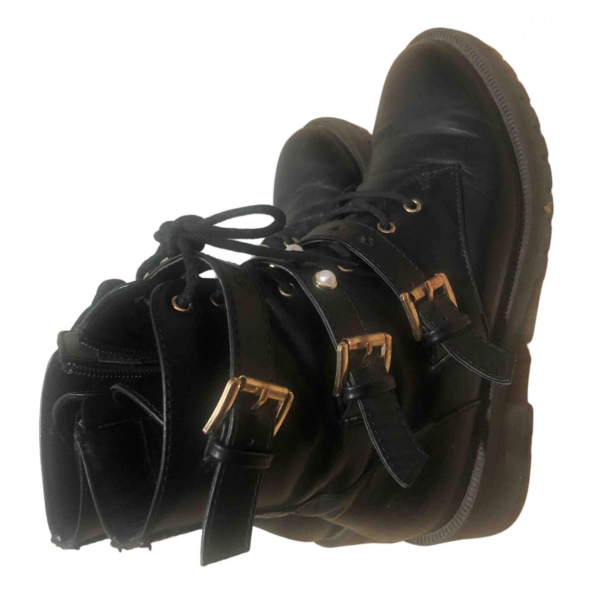 Bianco - Bottes   pour femme en cuir - noir