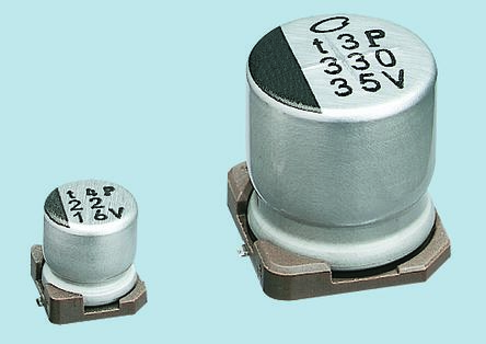 Nichicon 10μF Electrolytic Capacitor 50V dc, Surface Mount - UWX1H100MCL1GB (10)
