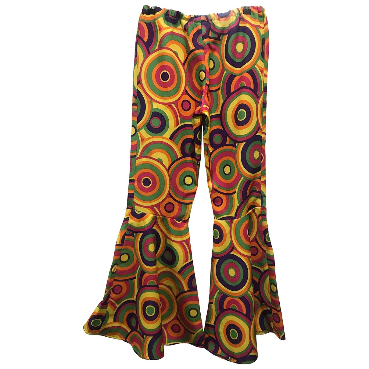 Non Signé / Unsigned Hippie Chic Multicolour Trousers for Women M International