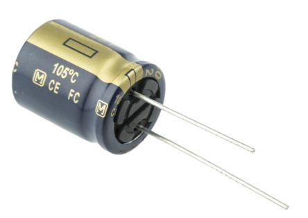 Panasonic 1800μF Electrolytic Capacitor 25V dc, Through Hole - EEUFC1E182 (5)
