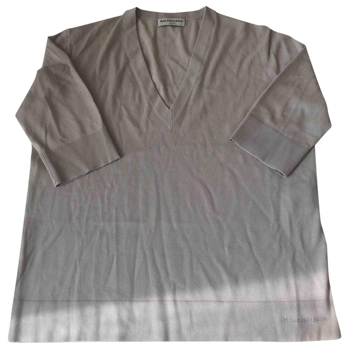 Balenciaga - Pull   pour femme en laine - ecru