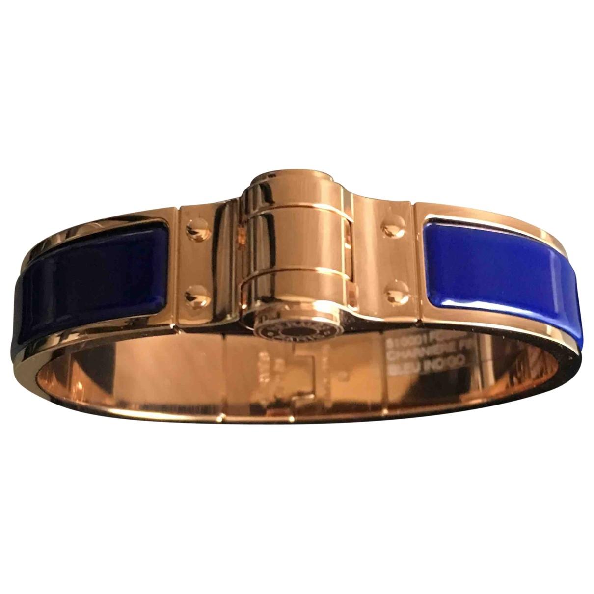 Hermès Bracelet Charnière Blue Metal bracelet for Women \N