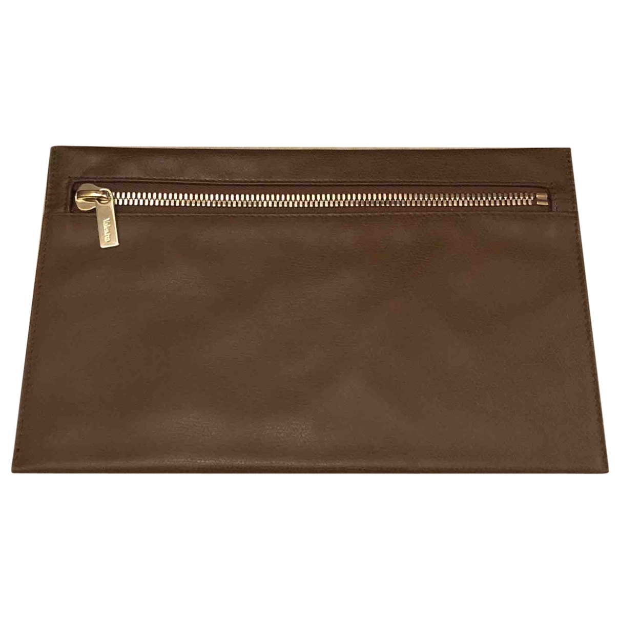 Valextra \N Brown Leather Purses, wallet & cases for Women \N