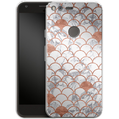 Google Pixel XL Silikon Handyhuelle - Little Mermaid von caseable Designs