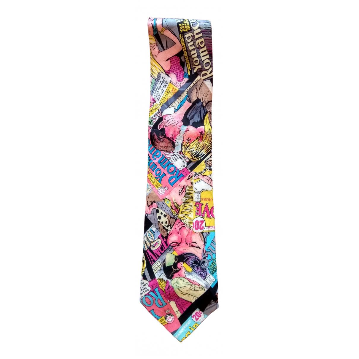 Nicole Miller - Cravates   pour homme en soie - multicolore