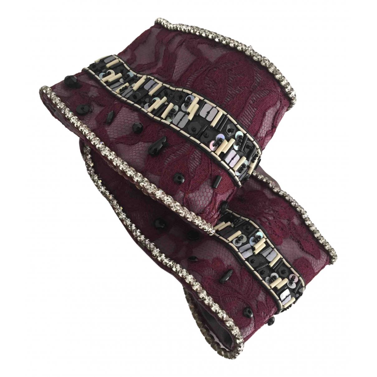 Dolce & Gabbana \N Burgundy Silk belt for Women 31 Inches