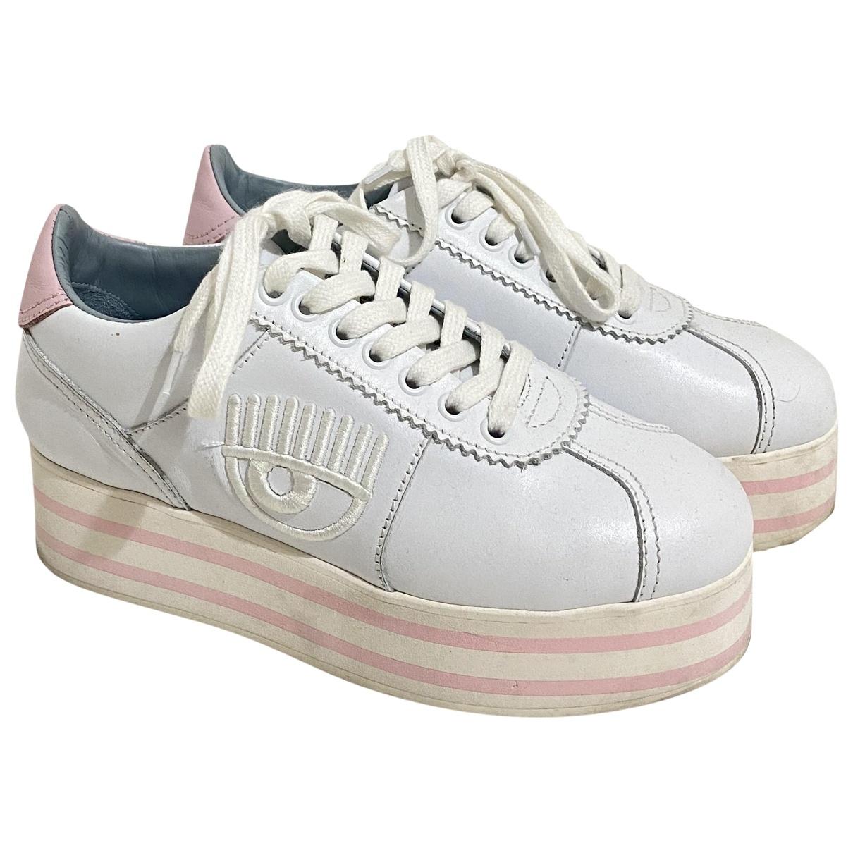 Chiara Ferragni \N Sneakers in  Weiss Leder