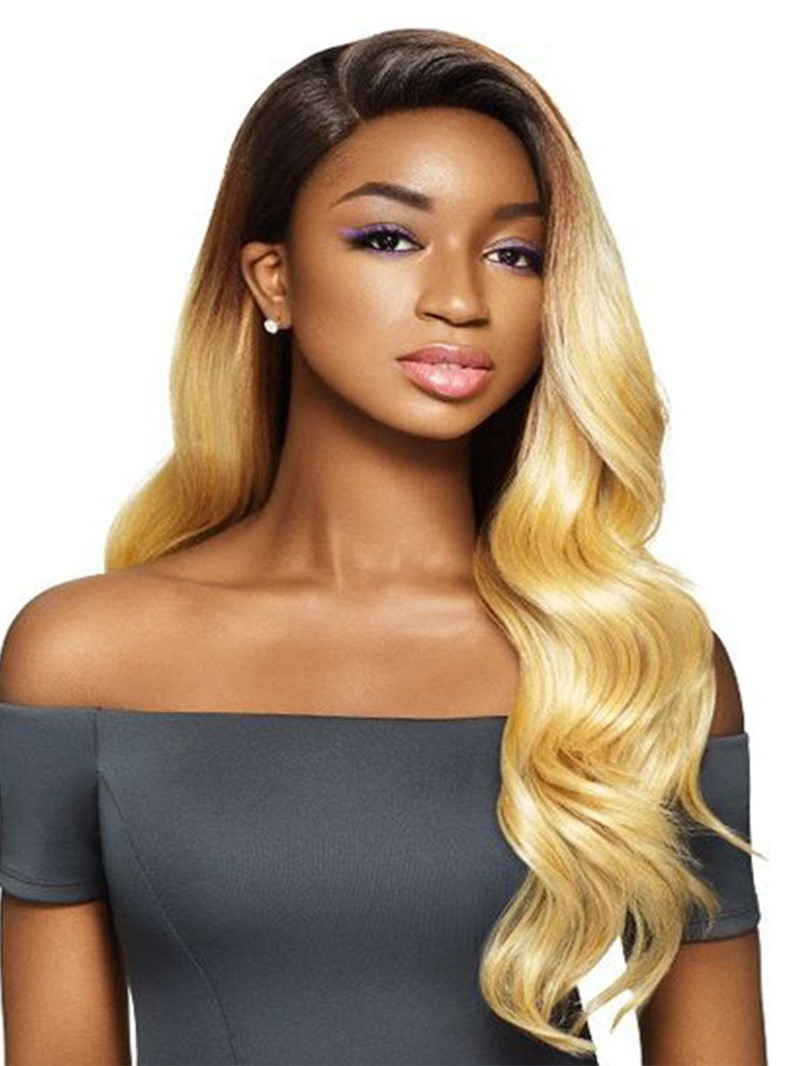 Ericdress Womens Side Part Hairstyles Long Lenth Body Wave Synthetic Hair Capless Wigs 26Inch