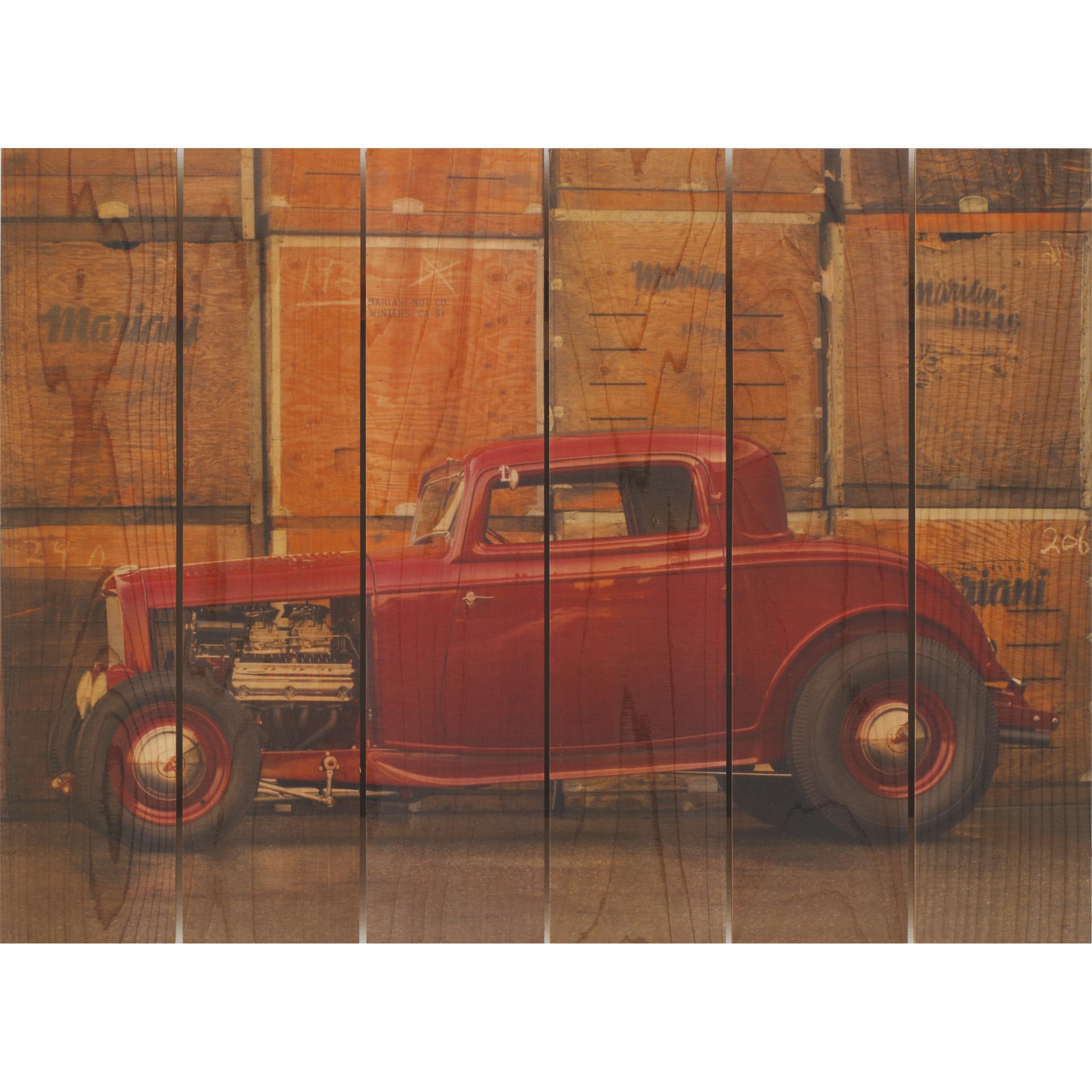 Daydream Gizaun Cedar Wall Art, Deuce Coupe, 33