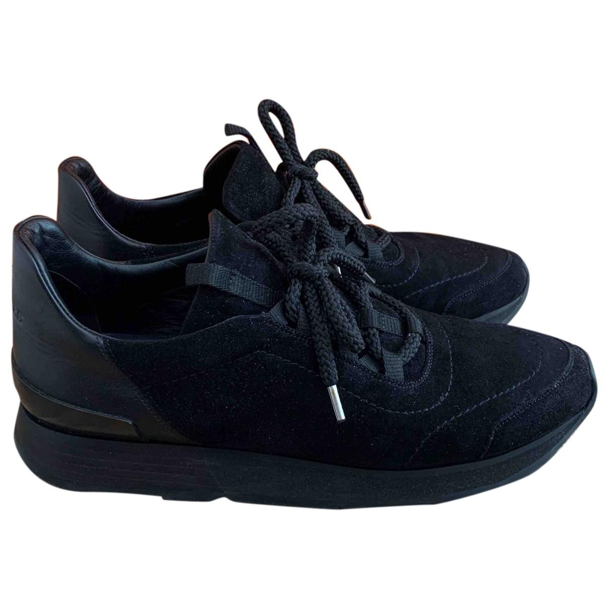 Hermes - Baskets Miles pour femme en cuir - noir