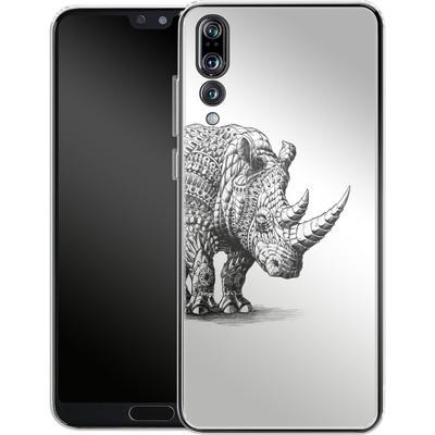 Huawei P20 Pro Silikon Handyhuelle - Rhinoceros von BIOWORKZ