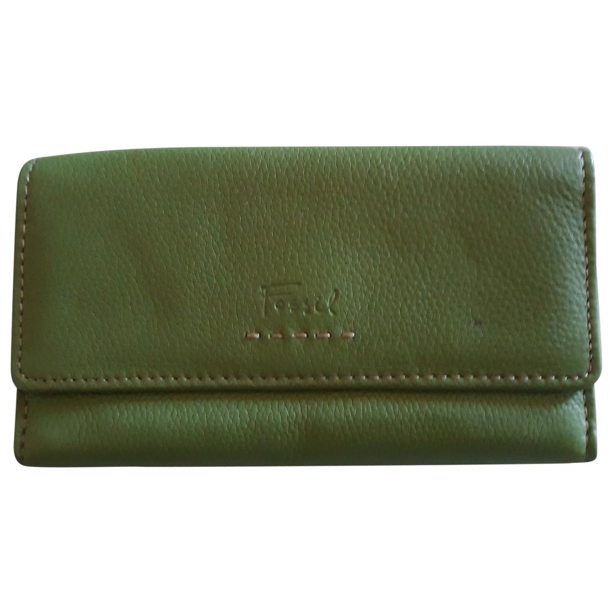 Non Signe / Unsigned \N Portemonnaie in  Gruen Leder