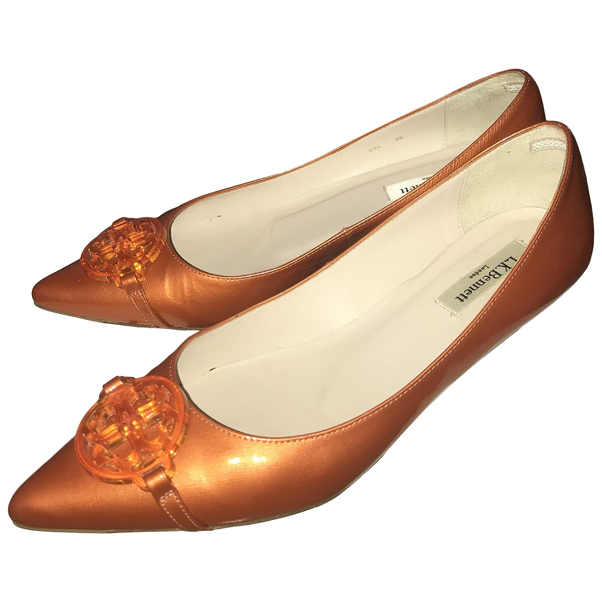 Lk Bennett \N Orange Leather Heels for Women 39 EU