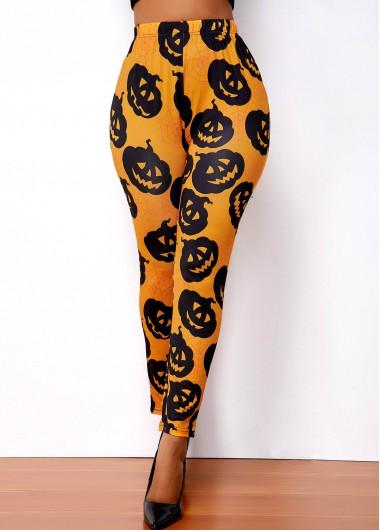 High Waist Super Elastic Halloween Print Legging - 2X